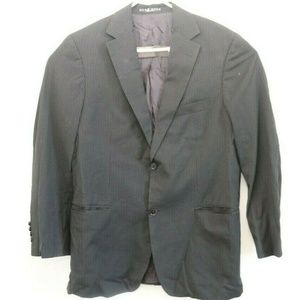 Mens Grey Striped Hugo Boss Sport Coat Suit Jacket